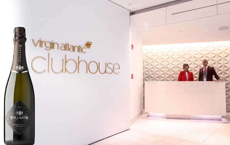290 bottles of Follador a month for Virgin Atlantic's Upper Class Clubhouse VIP Lounge at London Heathrow
