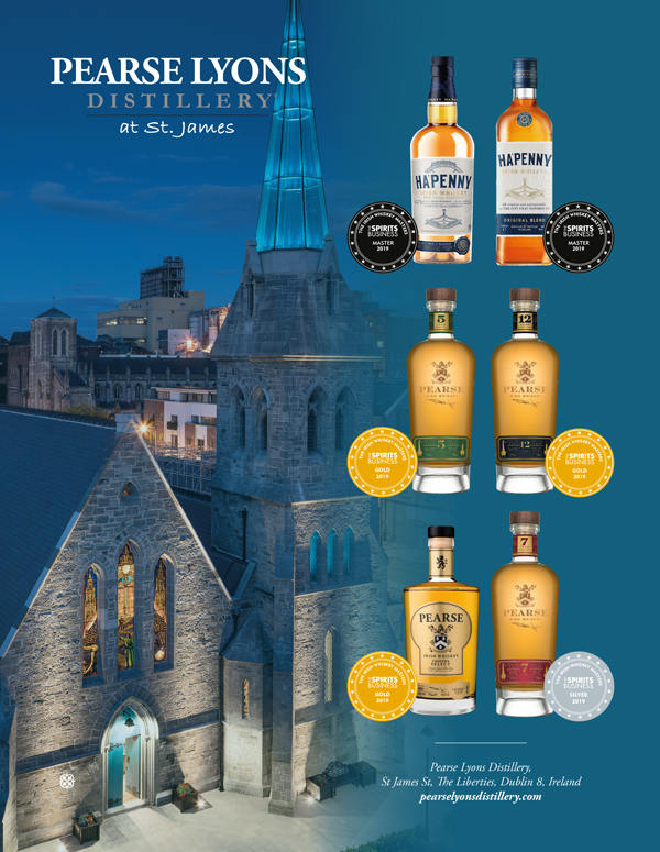 Pearse Lyons Distillery wins big at theIrish Whiskey Masters 2019